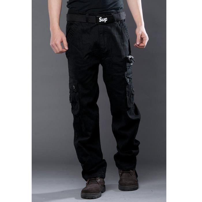 Cdiscount poches Pantalon Vente Milita pantalon Marque Noir Achat Multi Luxe Homme Noir PCqFqwxH