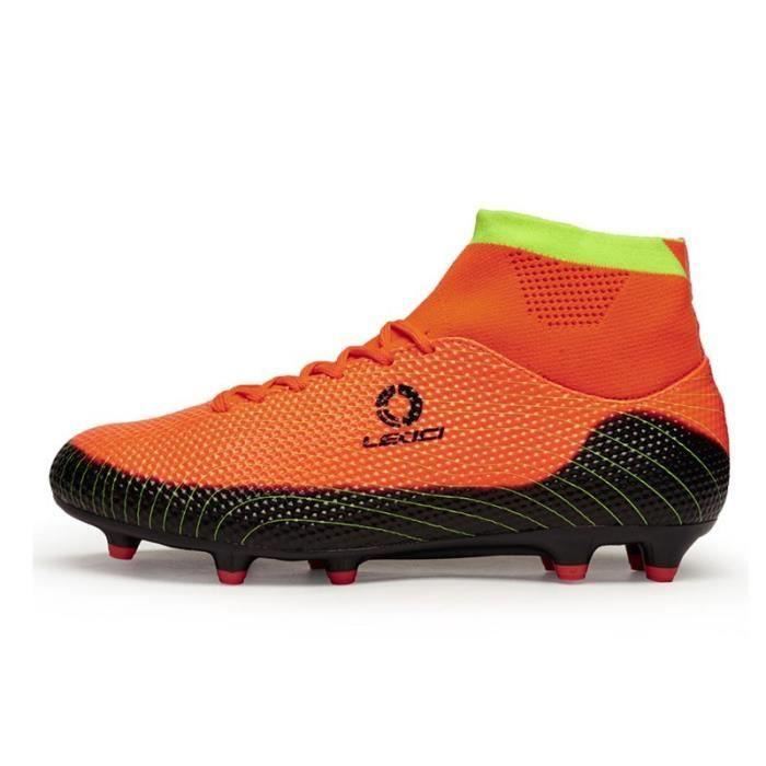 AG Chaussures de football avec chaussettes Hommes Femmes Chaussures de football pour enfants Imperméable Ronaldo Soccer Cleats Bleu p04soDJ