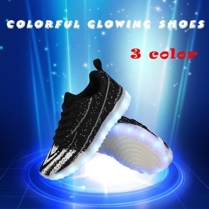 Skateshoes Mixte 2017 nouvelles rougeoyants colorés avec des lumières Up Led lumineux LED Enfants Light Up Sneakers pour filles eISVStK
