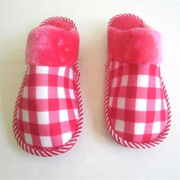 Chaussons Femmes Classique 2018 Hive Mode Treillis Chausson Garder au chaud Haut qualitér Durable chaussure Taille 35-40
