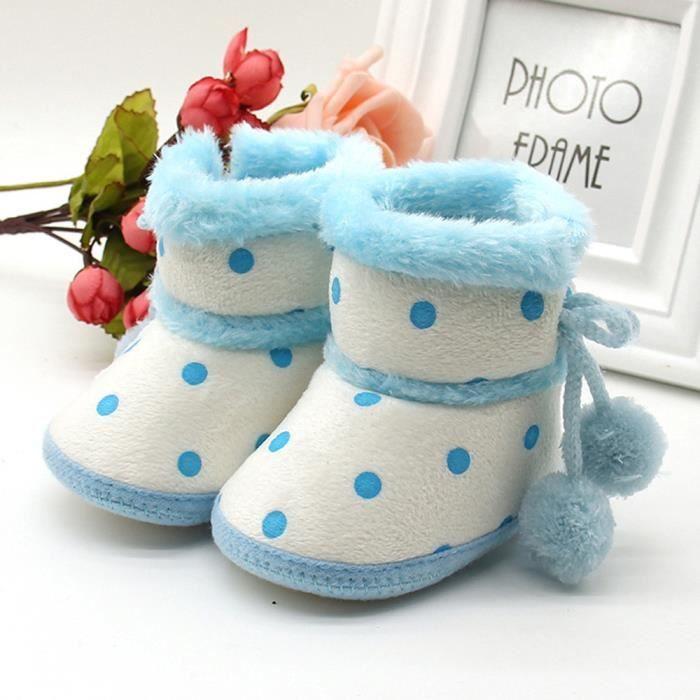 bleu ns De Chaussures Filles petit Pour Doux Tout Neige Gar Bb Bottillons ons Nouveau Rchauffement Bottes Oaq7pxZw