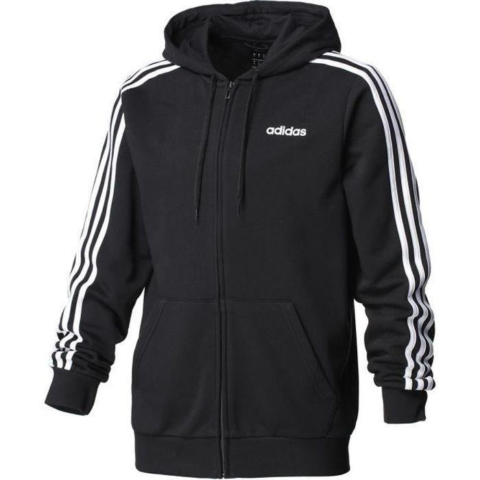 bb41bb16d739 Vestes sweats zippés capuche E 3s fz cap ft blk sweat - Adidas ...