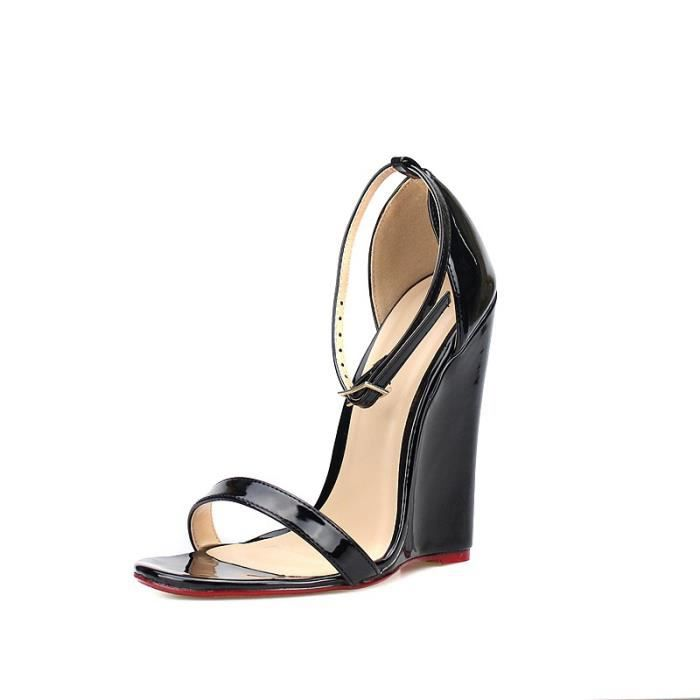 2017 Sexy Summer 14CM super hauts talons Compensées Sandales Femmes Fétiche Chaussures cheville de spartiates rHN7vEle