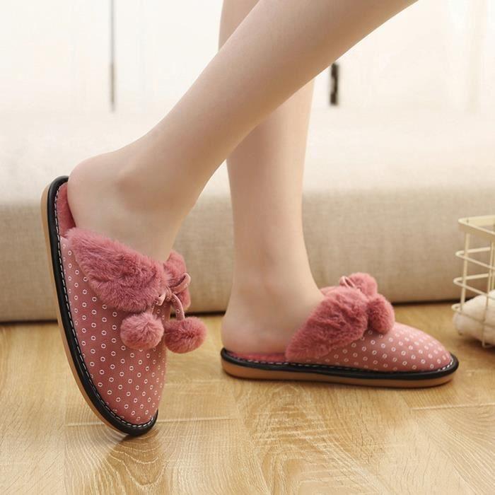 Sidneyki®Bottes d'hiver des femmes en peluche chaussures à lacets en plein air chaud cheville bottes de neige Violet XKO750 YicRzF