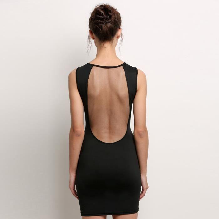 c9572b6c17a ... Mini Robe femmes Sexy de soirée Nouveau mode chic sans manches O-cou ...