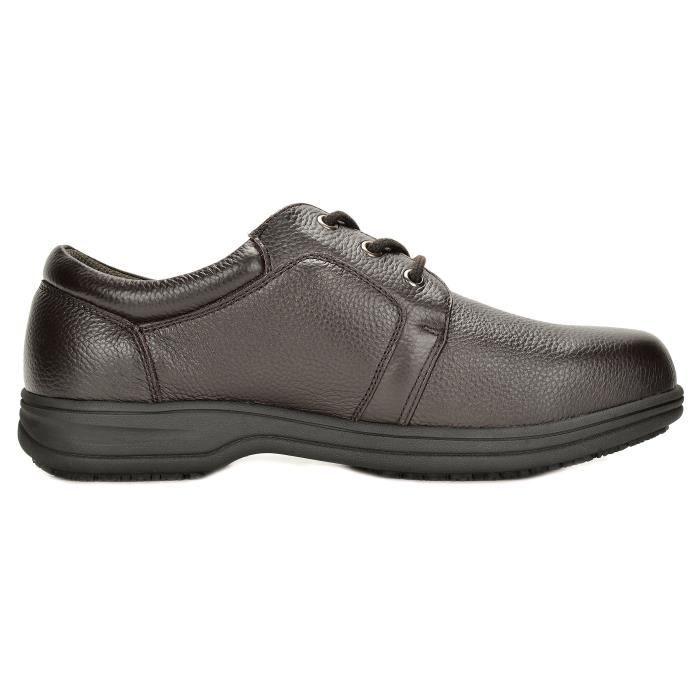 Uno en cuir véritable restaurant Oxfords Chaussures de travail YVLT6 Taille-49 1-2 AZcPEU