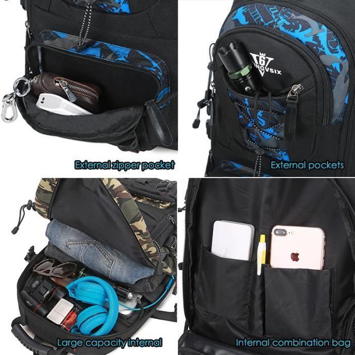 14-17 pouces USB ordinateur portable sac à dos cahier Étanches garçons sacs décole Hommes sacs à dos ordinateur Voyage mochila Ruck