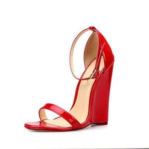 Sexy Chaussures hauts Summer Fétiche 14CM Femmes de cheville spartiates super Compensées talons Sandales 2017 pxdqIp