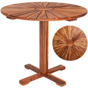Salle à manger vidaXL Table de Bar Bois dAcacia Solide Table ...