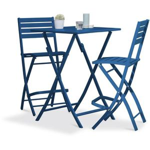 Table jardin pliante bleu - Achat / Vente pas cher