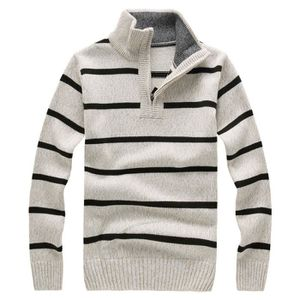 PULL Laine Pull Rayé Hommes Slim Fit Pull Homme Marque