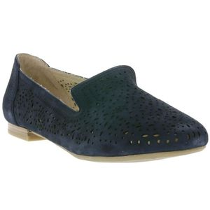 CAPRICE Real Leather Slipper Moka Dames Noir, Taille:39
