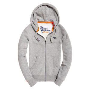 À Label Grey Capuche Sweat Superdry Sweatshirt Iced Orange q8XRw5Xx1