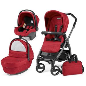 POUSSETTE  TRIO BOOK PEG PEREGO GEO RED (Chassis S JET)