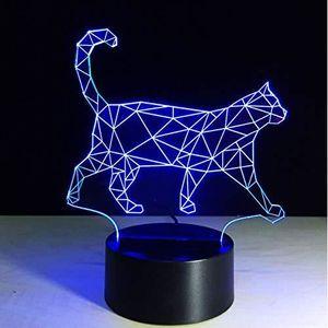 LAMPE A POSER Lampe D'Ambiance 3D Paresseux Chat Marche Cat Lamp