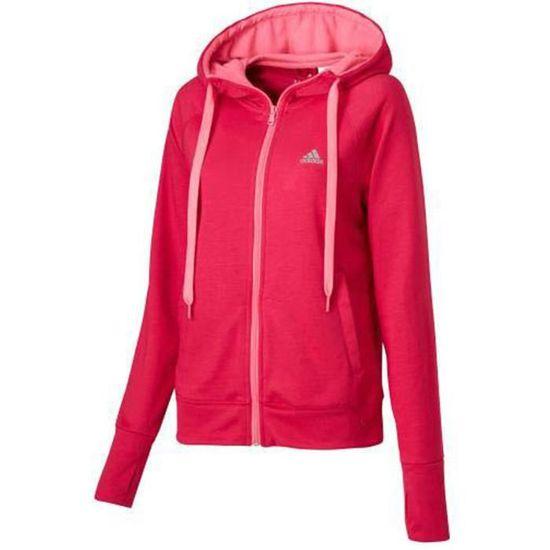 De Achat Femme Veste Vente Sport Rose Capuche Adidas wIFYqPTx