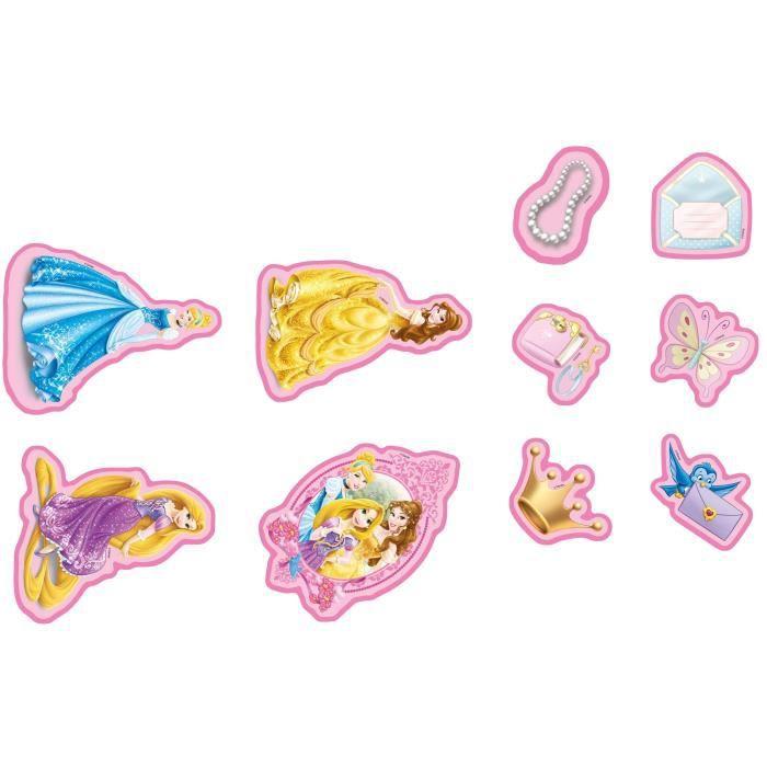 Princesse lot de 10 stickers mousse 8x55 cm 10x15 cm