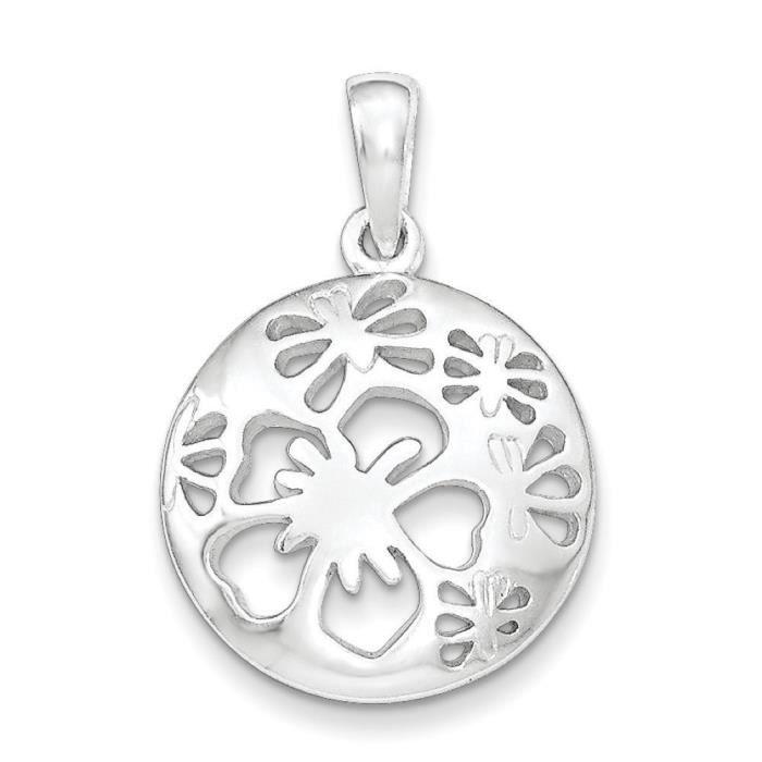 Découpe-Argent fin 925/1000 avec pendentif en forme de fleur