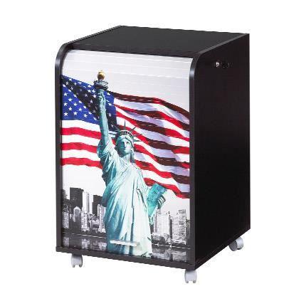 caisson de bureau 2 tiroirs 47 2 cm noir new york achat vente caisson de bureau caisson. Black Bedroom Furniture Sets. Home Design Ideas