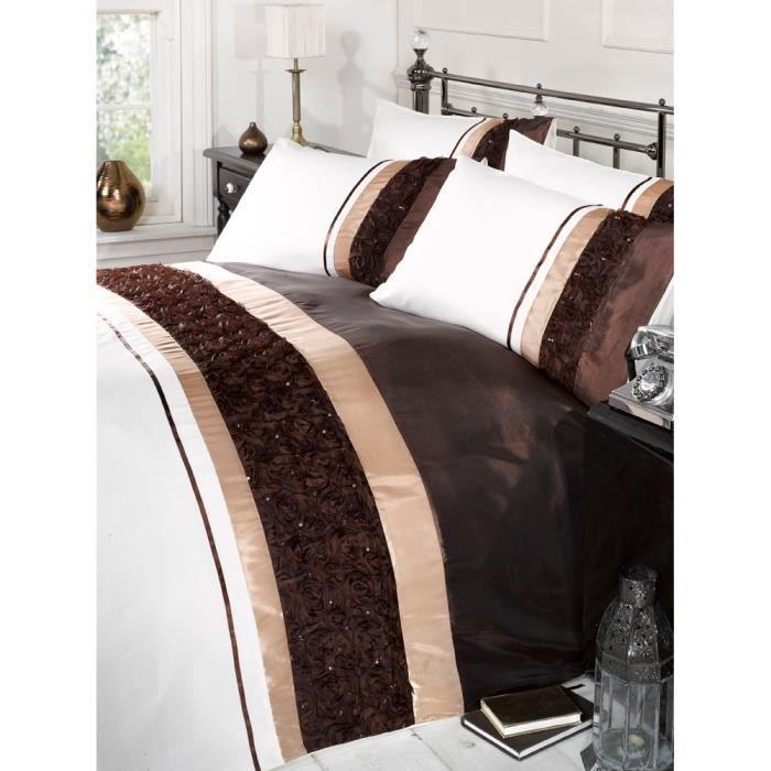 parure de lit bali motif ray et paillettes achat vente parure de drap cdiscount. Black Bedroom Furniture Sets. Home Design Ideas