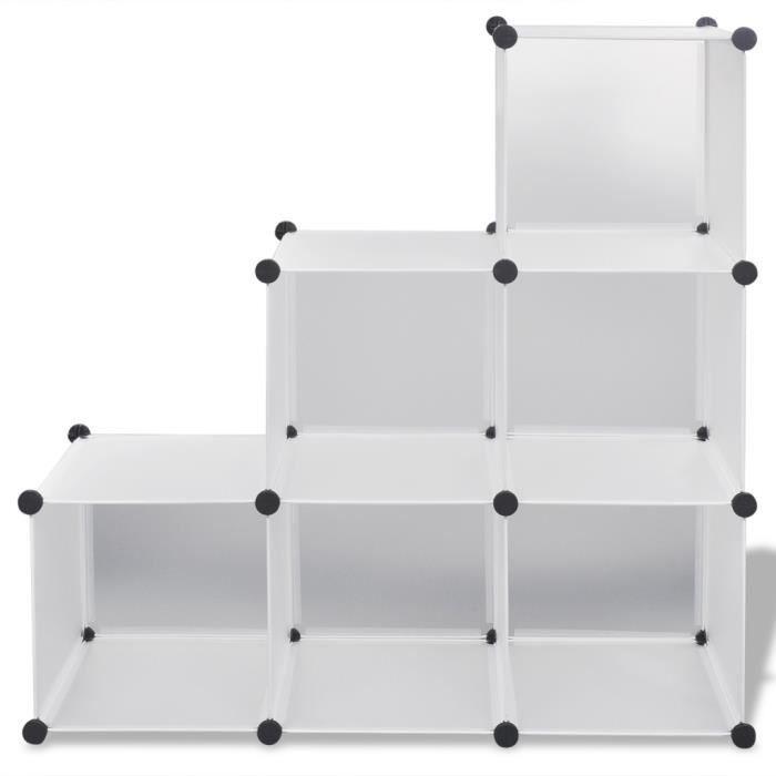 Bleosan Armoire Étagère Plastique Cubes, Meuble Rangement