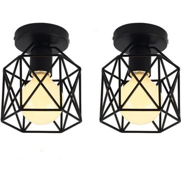 Fer Lustre Suspension Luminaire E27 Pour Salon Couloir