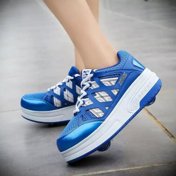 SHELOVEIT® Baskets Garçon Solide Double roues Heelys