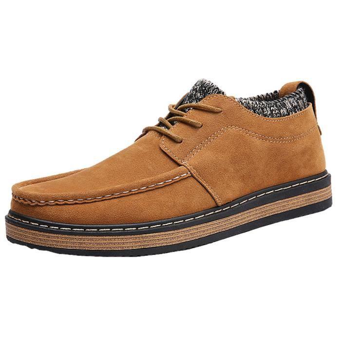 Sneakers Homme personnalité Sculpté Sneaker Classique Style britannique Beau chaussures Respirant Grande Taille 39-44 LOalIw