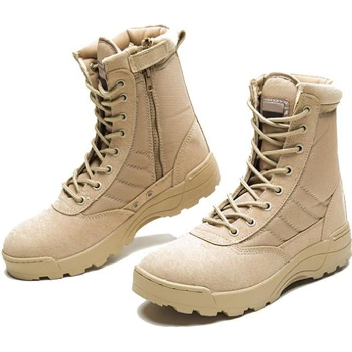 Botte Homme Meilleure Qualité Classique Bottes De Sécurité L'armée Durable Haute-top Tactique Cheville Désert Ultra