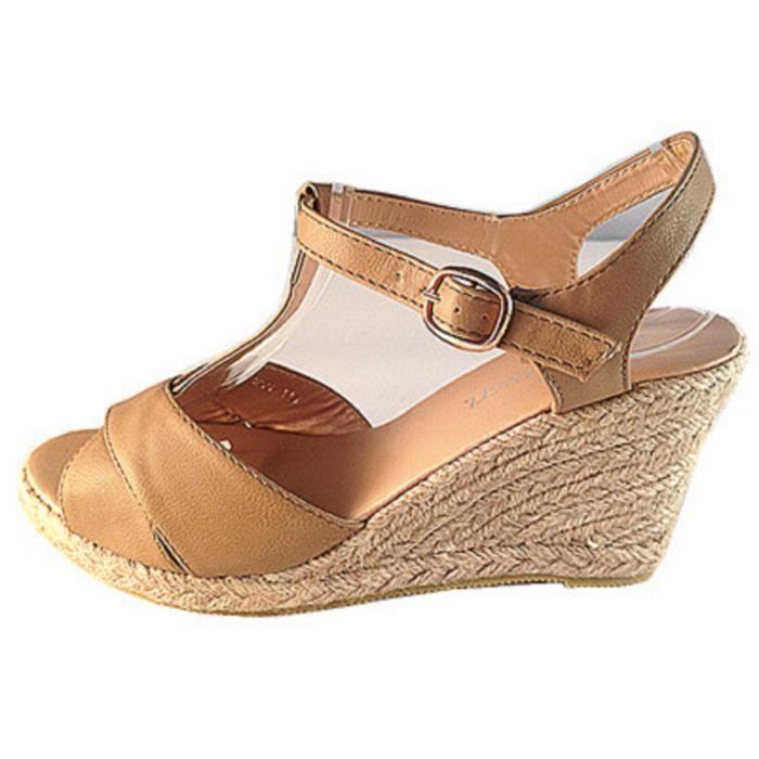 17e978875ba09 Fashionfolie888 - Femmes Sandales talon compensées sexy chaussure ...