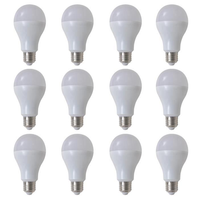 12pcs 9w Ampoules E27 Led Blanc Chaud Pour Cuisine Salon Chambre Ou