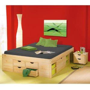 lit rangement 180x200 achat vente lit rangement 180x200 pas cher soldes d s le 10 janvier. Black Bedroom Furniture Sets. Home Design Ideas