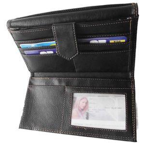LOLUNA® Compagnon Porte Chequier Portefeuille Porte carte Porte monnaie Original et Mignon avec Libellule - Brun lenaDm5c