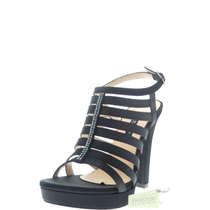 Albano Jewel Sandal Femme Black