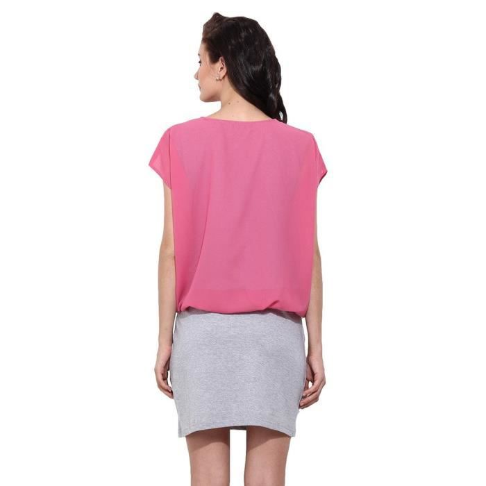 Womens Casual Dual Colour Dress NQHJX Taille-36