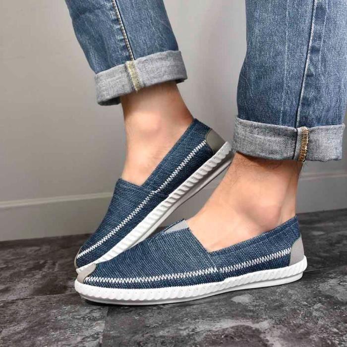 Chaussures Casual Pour Conduite Toile De Paille Linge Hommes Capsdao®6987 Flats Respirantes Comfy xqUgpEIw