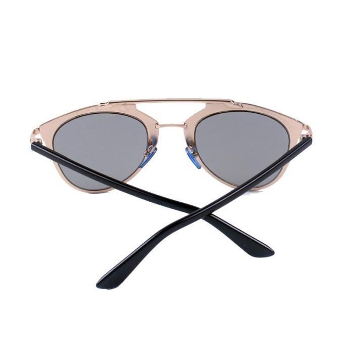 Deuxsuns®Classique Femmes Métal Cadre Miroir Lunettes de Soleil Cat Eye Lunettes GD@zf666