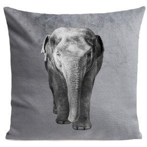 COUSSIN ARTPILO - Coussin ELEPHANT Coton déperlant - Gris
