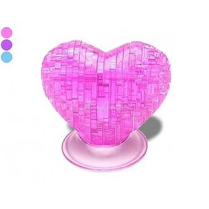 PUZZLE Puzzle PVC cœur 3D violet casse tete reflexion jeu