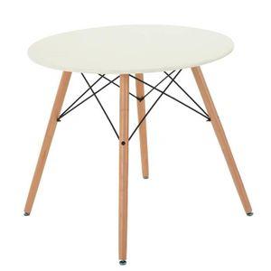 TABLE À MANGER SEULE Furniturer 80cm Table ronde à manger moderne rétro