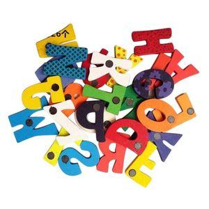 DRONE 26 lettres en bois aimant pour réfrigérateur Carto