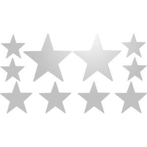 STICKERS Planche de stickers étoile Blanc Réfléchissant