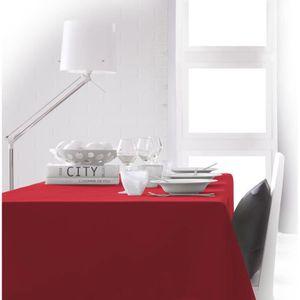 NAPPE DE TABLE TODAY Nappe rectangulaire 140x200 cm - Rouge pomme