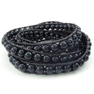 BRACELET - GOURMETTE Bijoux Bracelet Homme - Réglable Perle Manchette -