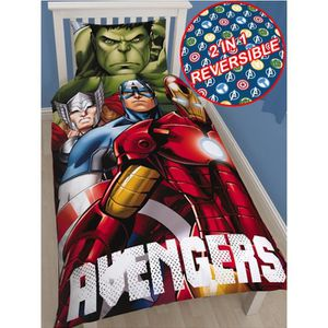 HOUSSE DE COUETTE Housse de couette Avengers 1 personne