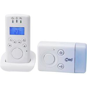 ÉCOUTE BÉBÉ Babyphone Eco Multifonctions Interphone Veilleuse