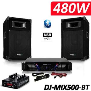 PACK SONO Pack Sono complet DJ-MIX500-BT ampli + enceintes 5