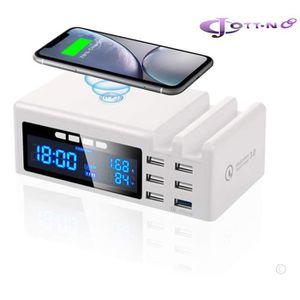 CHARGEUR TÉLÉPHONE 6 Port Chargeur USB Station de Recharge rapide 40W