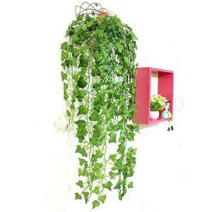 FLEUR ARTIFICIELLE Vert artificielle PE Feuille de lierre bouquets de