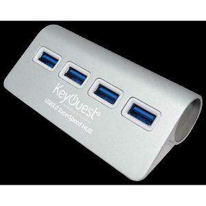 HUB KEYOUEST Hub USB Plug & Play - 4 prises USB - Taux